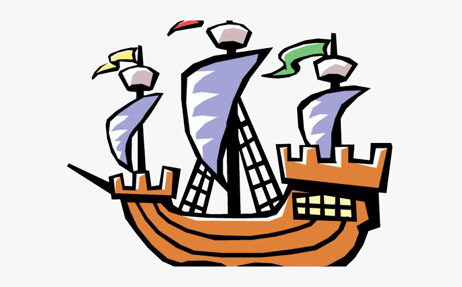 Sailing Ship Clipart Labor Day - Christopher Columbus Ship Clipart, Transparent Clipart