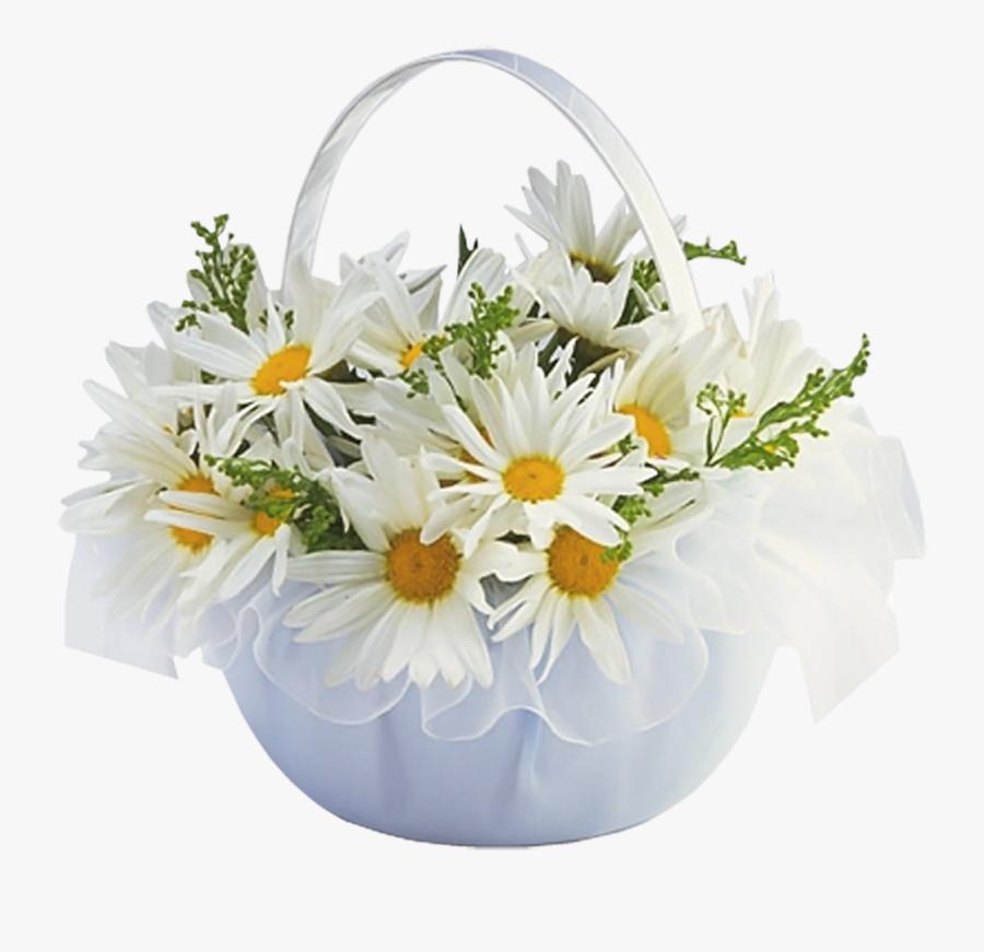 Flower Basket Clip Art - Flowers In Basket Png, Transparent Clipart