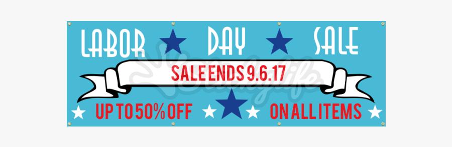 Labor Day Sale Vinyl Banner - Graphic Design, Transparent Clipart