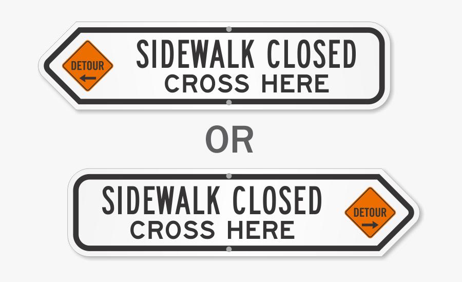 Transparent Cross Sign Png - Dead End Road Sign, Transparent Clipart