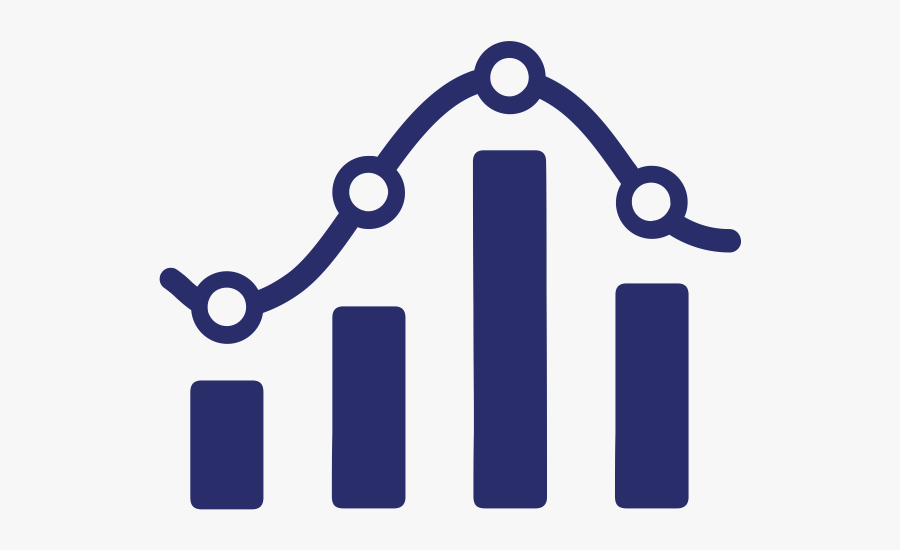 Insight And Reports - Data Analytics Graph Icon, Transparent Clipart
