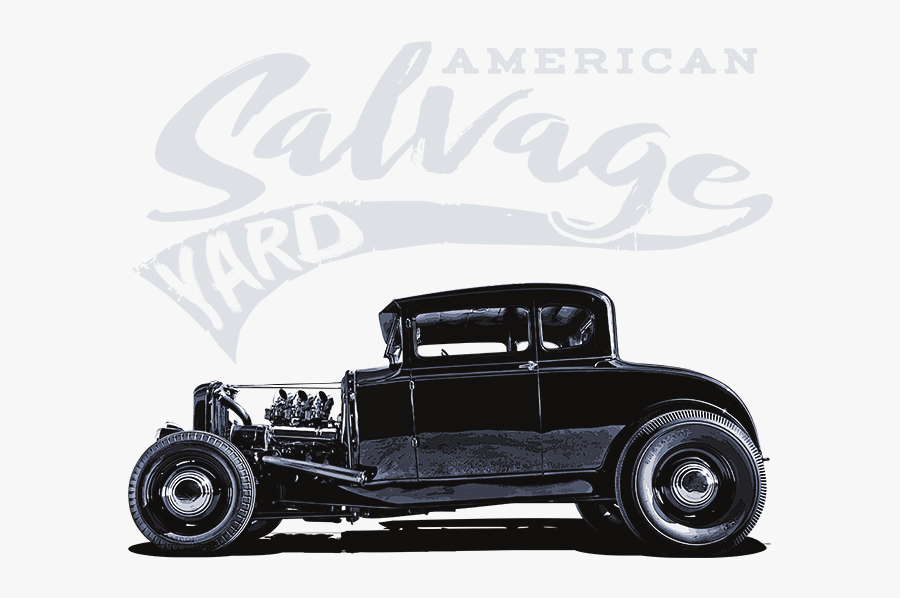 American Salvage Yard Rat - Antique Car, Transparent Clipart