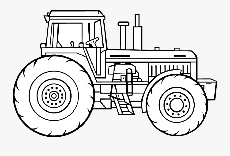 Road And Wheels Ii - Drawing Pictures Of Tractors, Transparent Clipart