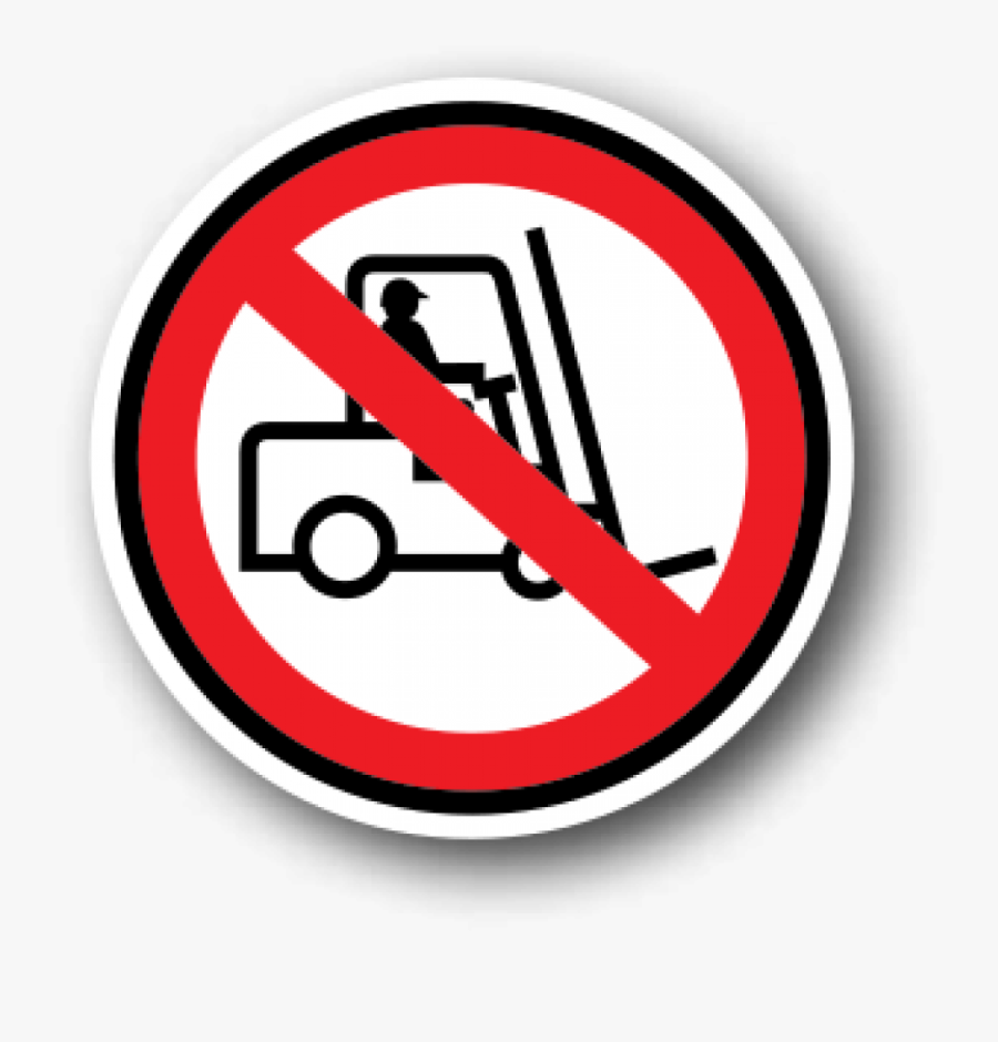 Health And Safety Floor Signs, No Forklifts - Safety Signs No Walking, Transparent Clipart