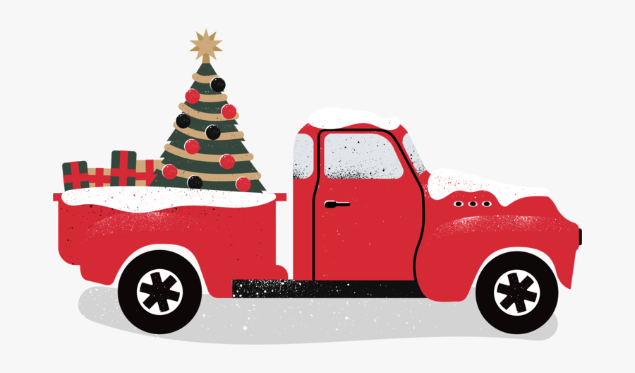 Pickup Clipart Mini Truck - Christmas Red Truck Png Clipart, Transparent Clipart