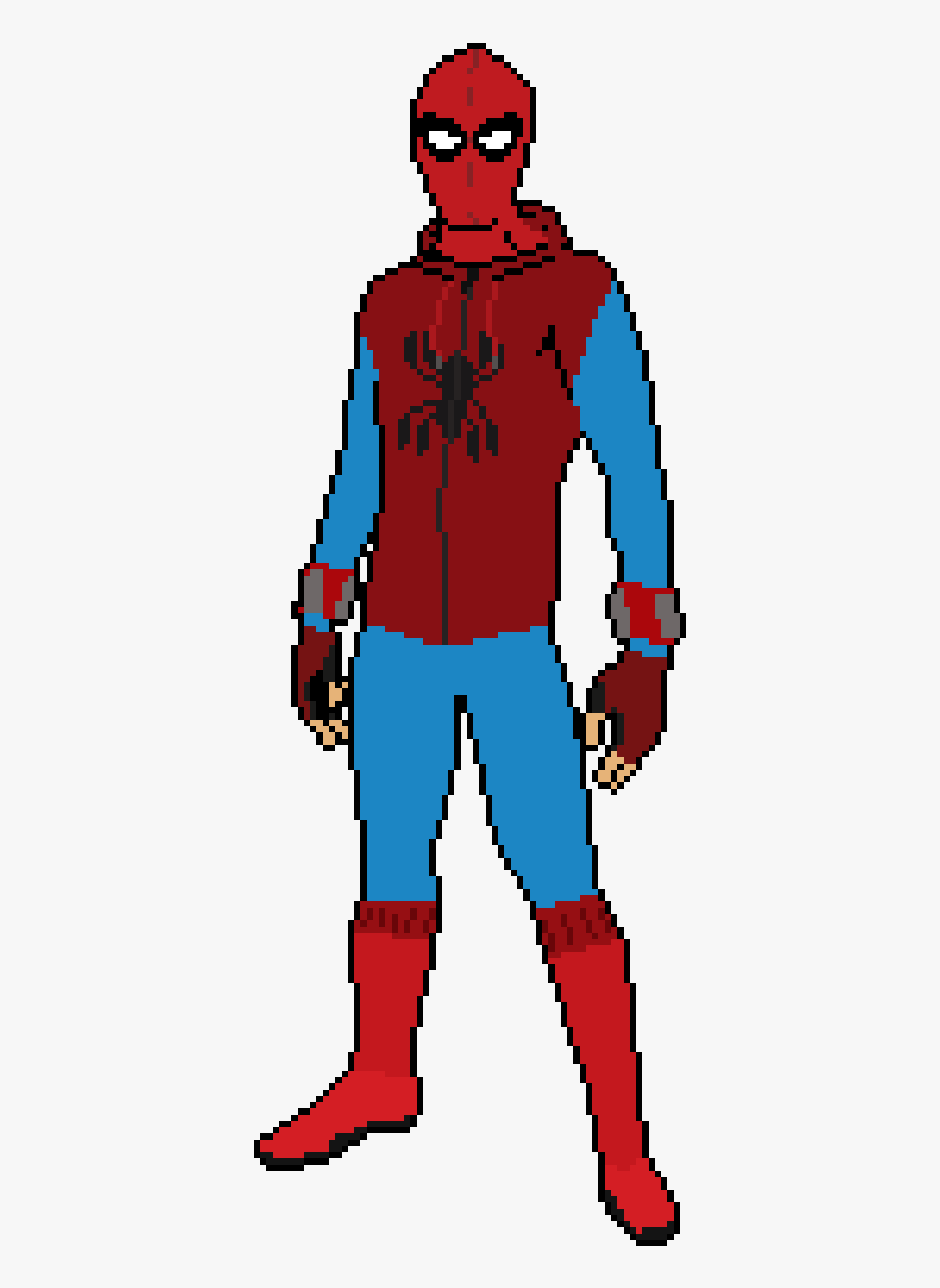 Drawn Spider Man Suit - Homemade Suit Spiderman Homecoming Drawing, Transparent Clipart