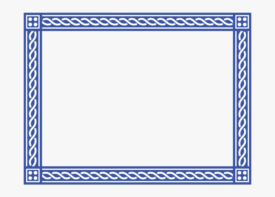 Transparent Certificate Border Design Png - Certificate Border Design Blue, Transparent Clipart