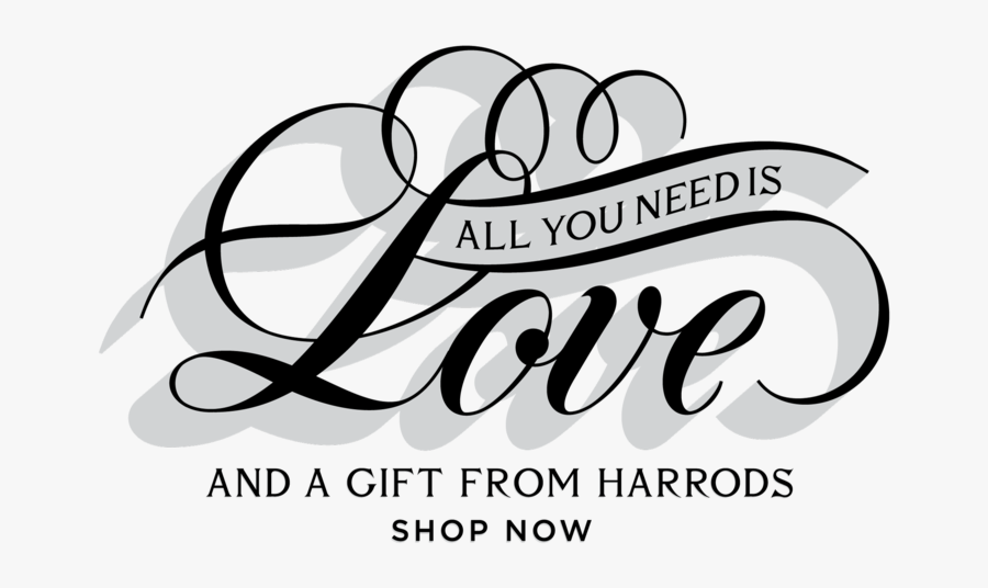 Clip Art Love In Fancy Writing - All You Need Is Love Png, Transparent Clipart