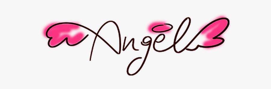#angel #love #cute #sweet #romantic #wings #writing - Angel In Cute Writing, Transparent Clipart