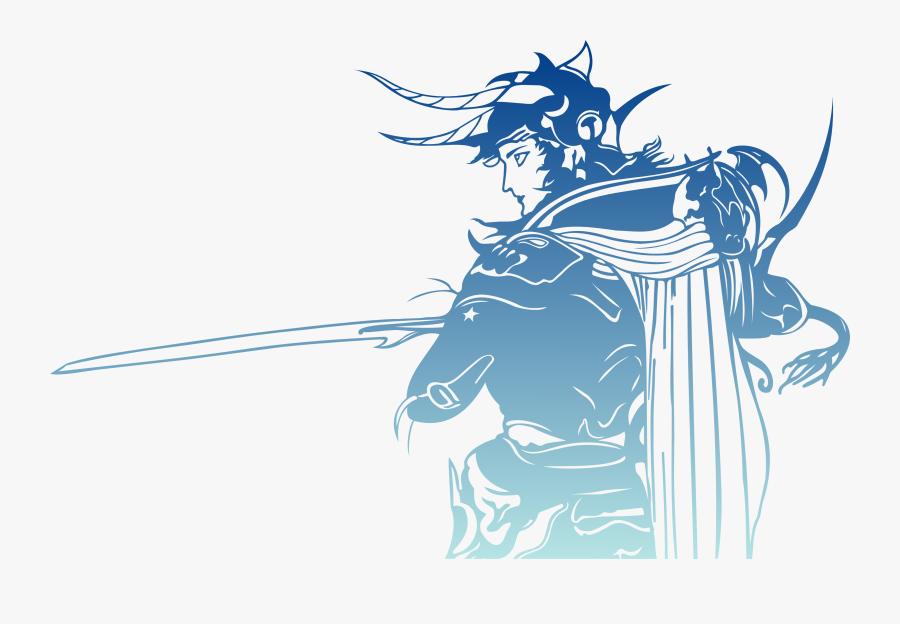Final Fantasy Logo, Transparent Clipart