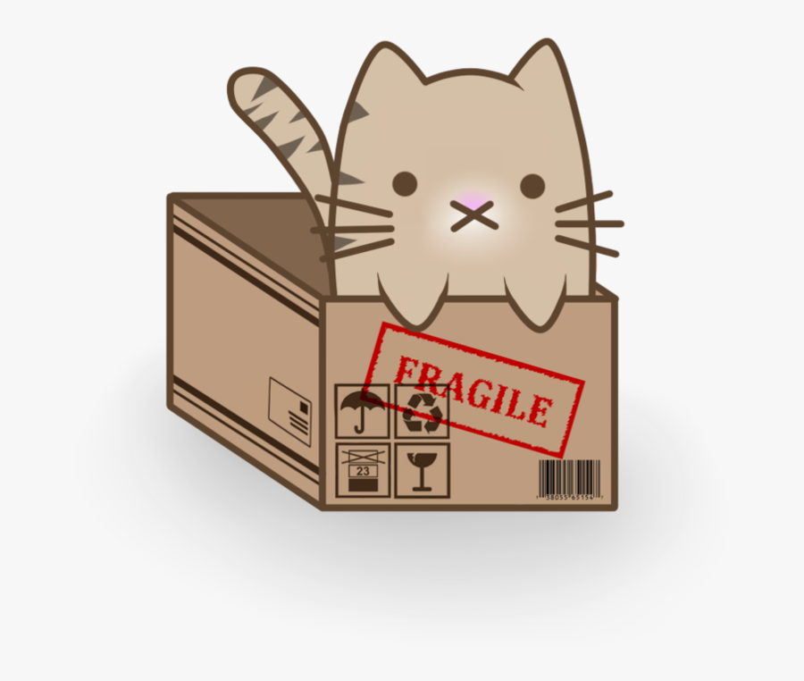 Clipart Library Stock Catgirl Anime Kitten Cartoon - Anime Cat In A Box, Transparent Clipart