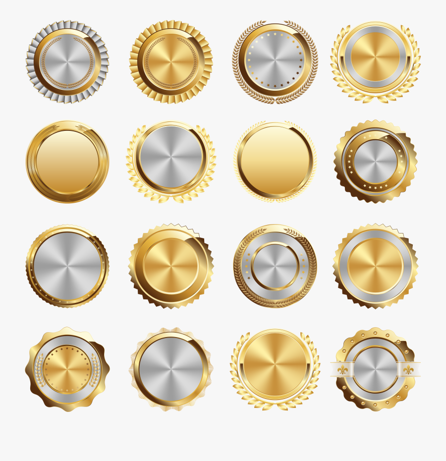 Logo Button Vector Design Icon Free Png Hq Clipart - Gold Buttons Png Free, Transparent Clipart