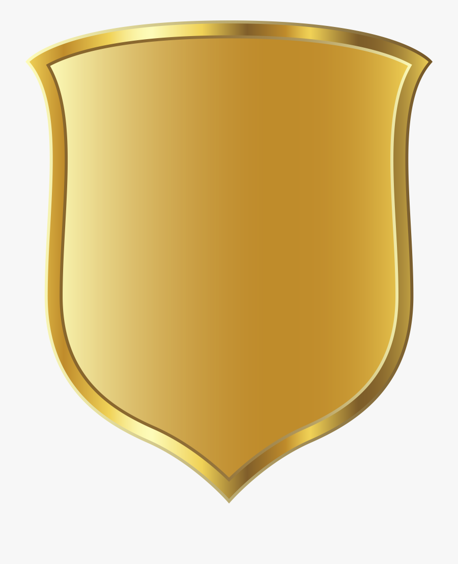 Sheriff Badge Clipart Free - Gold Shield Logo Png, Transparent Clipart