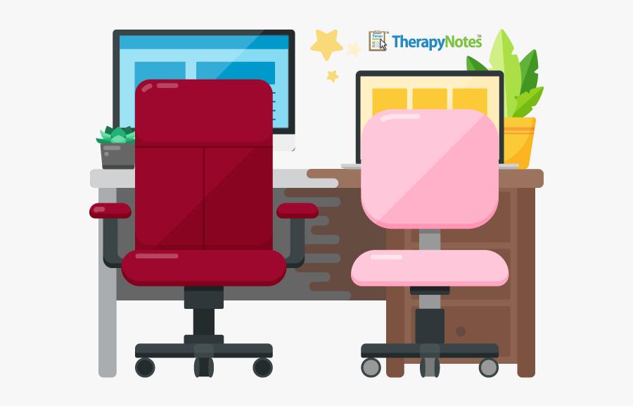 Office Chair, Transparent Clipart