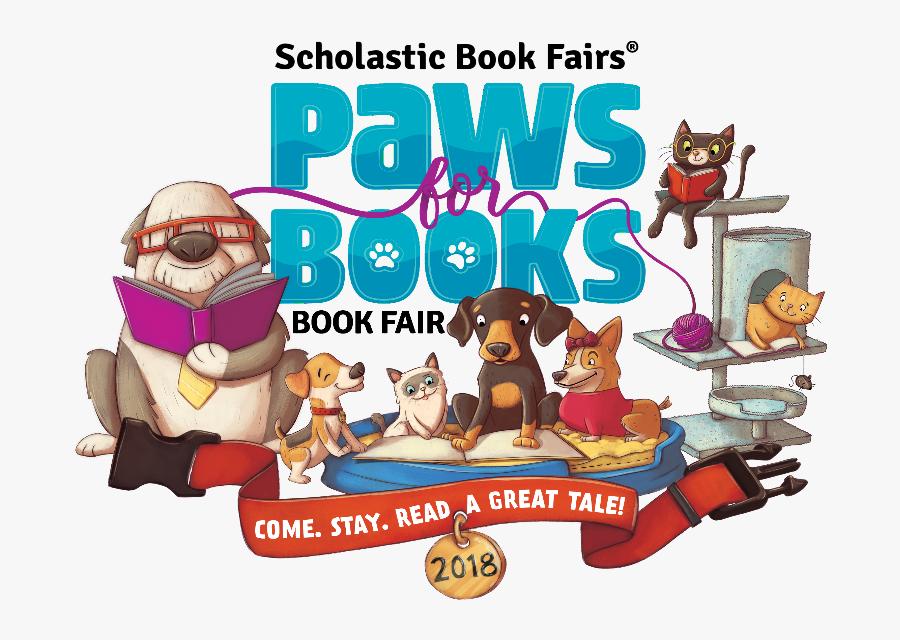 Paws For Books Book Fair, Transparent Clipart
