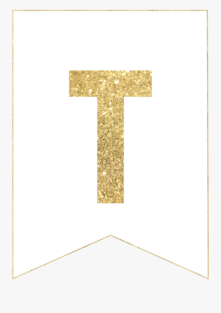 Happy Birthday Gold Printable Letter, Transparent Clipart
