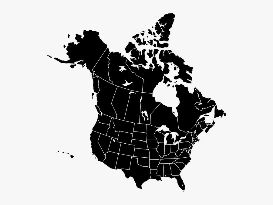 Ai Full Hd Maps - United State Of Canada, Transparent Clipart