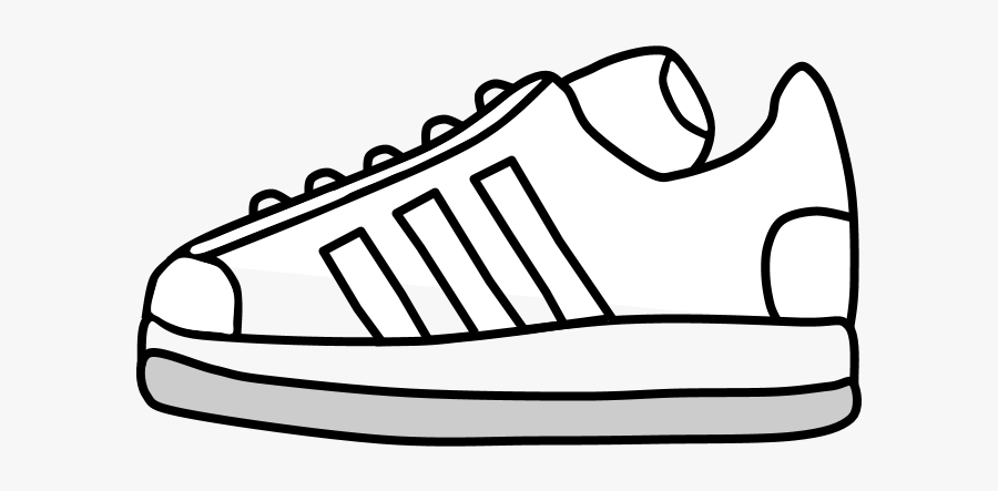 Sneakers, Tennis Shoes, Black And White Stripes - Tennis Shoes Clipart Black And White, Transparent Clipart