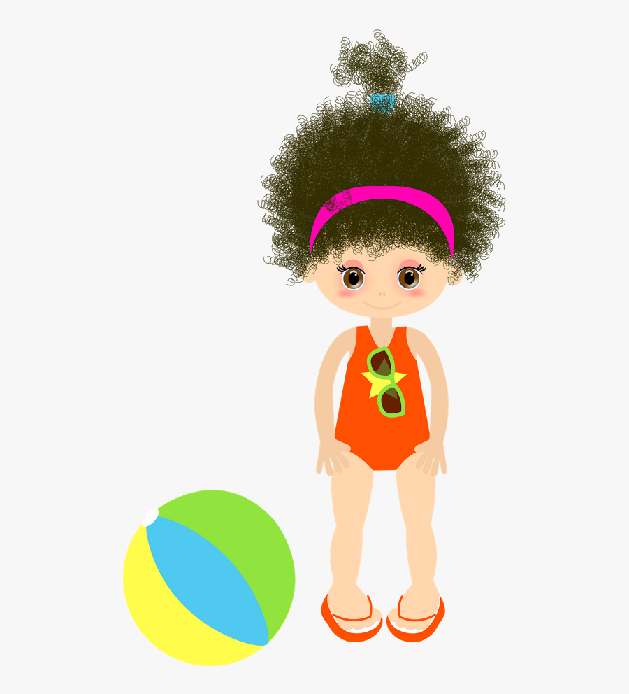 ○••°‿✿⁀ Girls ‿✿⁀°••○ - Clipart Cute Vector Girls Pool Party Clipart, Transparent Clipart