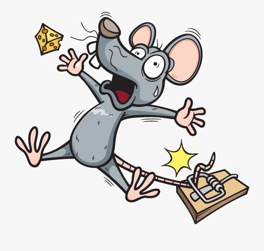 Clip Art Amid Trap Clipart - Cartoon Mouse In Trap, Transparent Clipart