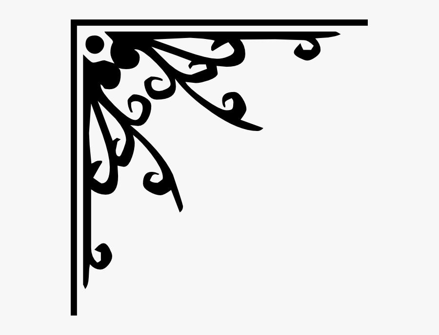 Svg Corner Decorative - Page Corner Decoration Png, Transparent Clipart