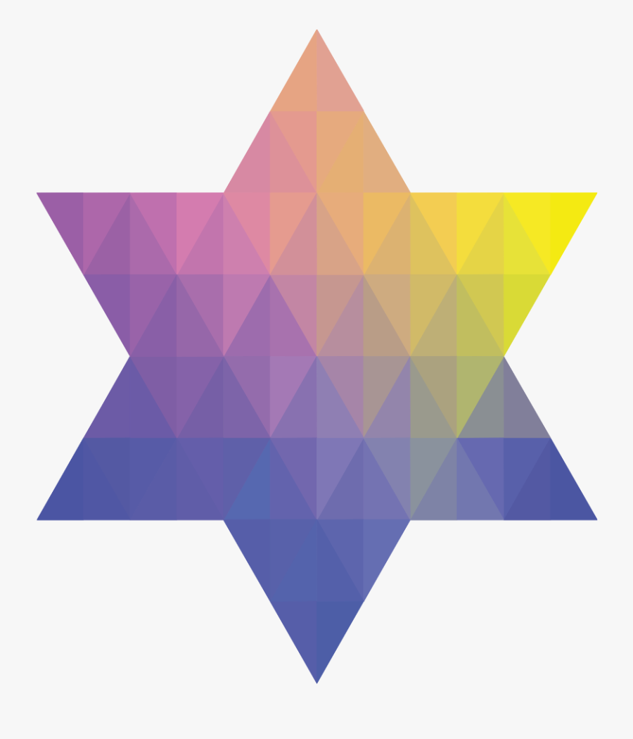 Geometric Jewish Star Of David Ii Clipart , Png Download - Triangle, Transparent Clipart