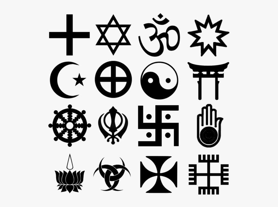 Clip Art Religion Row Christianity Judaism - Old And New Religions, Transparent Clipart