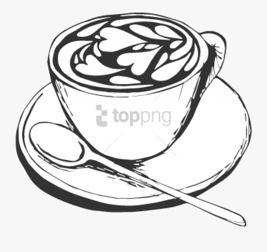 Coffee Cup Clipart Transparent Background - Coffee Cup Drawing Png, Transparent Clipart