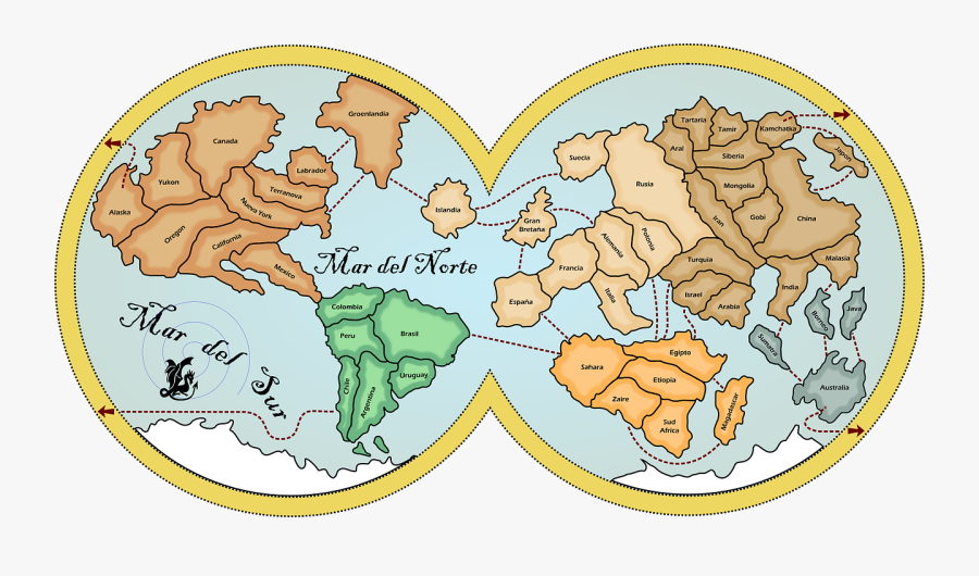 Map Earth Continents Free Photo - World Map, Transparent Clipart