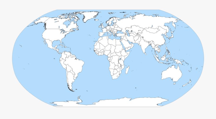 Clip Art Blank World Map - Blank Political Map Of World Pdf, Transparent Clipart