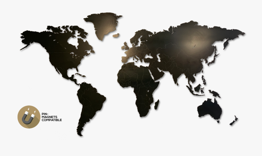 Wall Magnetic World Map, Transparent Clipart