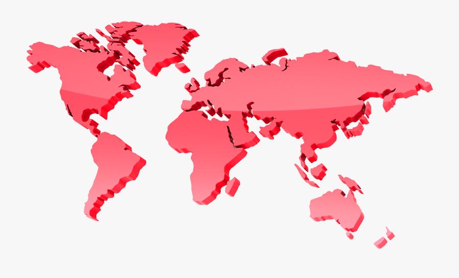 World Map In 3d Transparent, Transparent Clipart
