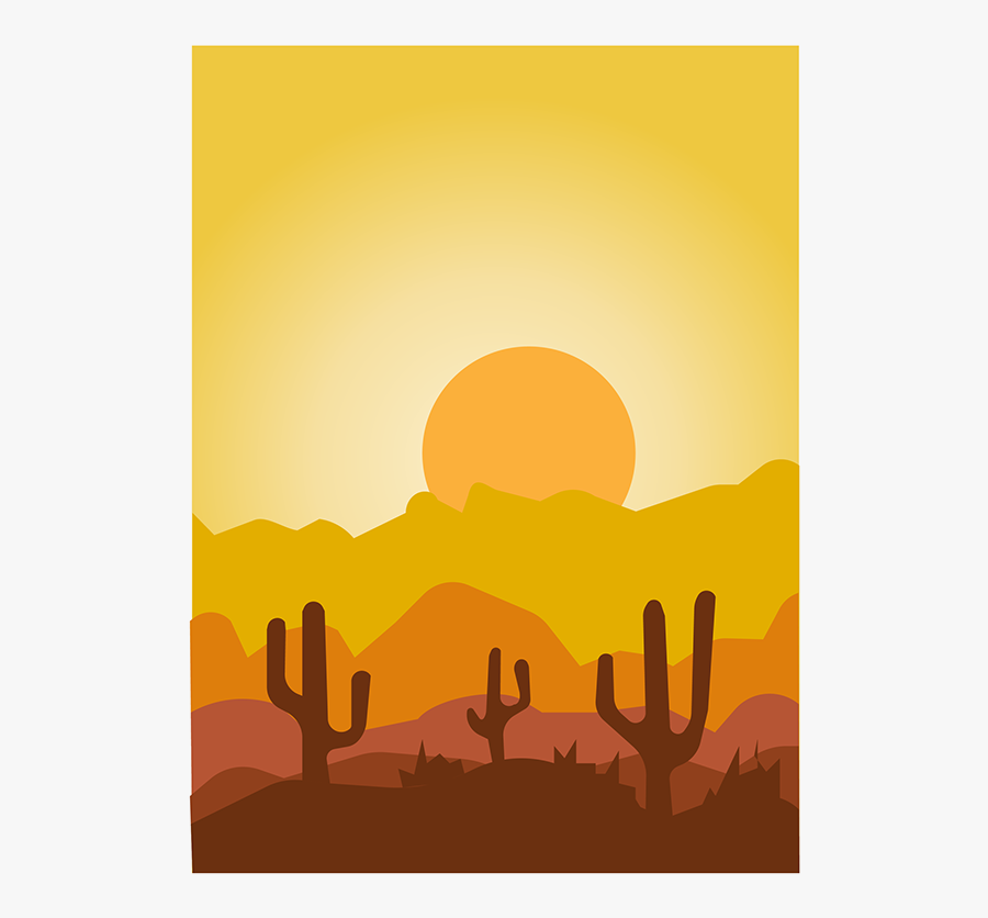 Collection Of Free Sunrise Vector Desert Download On - Silhouette, Transparent Clipart