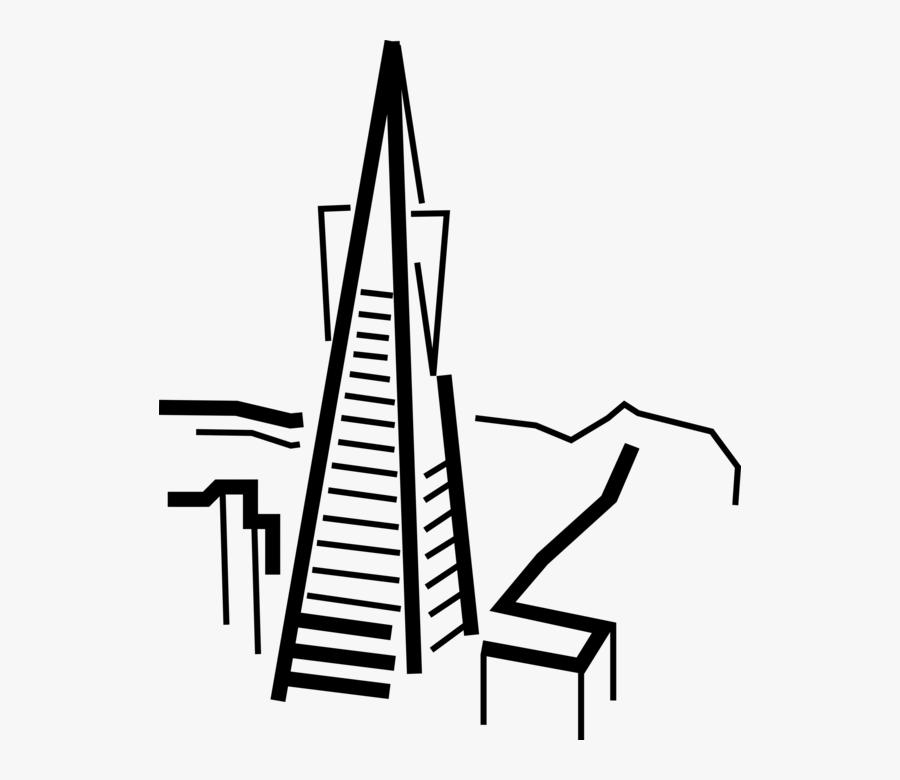 Clip Art Pyramid Vector Image - Illustration, Transparent Clipart