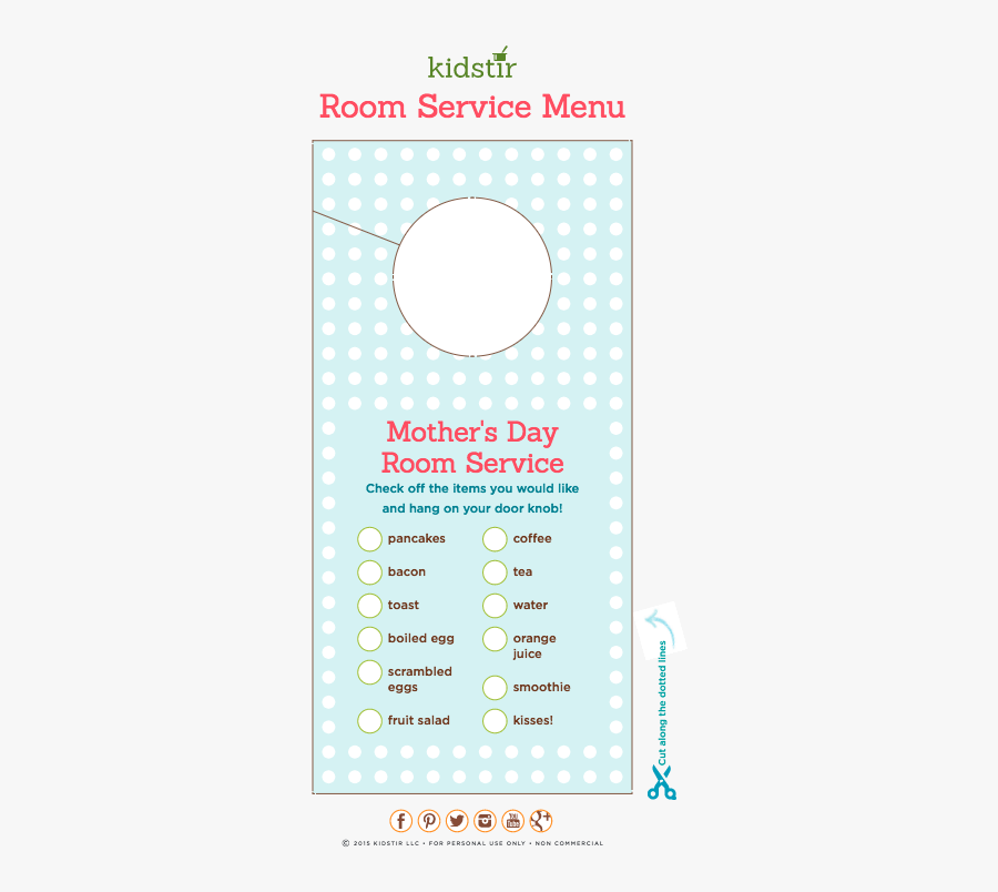 Mothers Day Room Service, Transparent Clipart