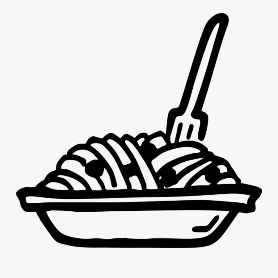 Disegno Pasta - Pasta Black And White, Transparent Clipart