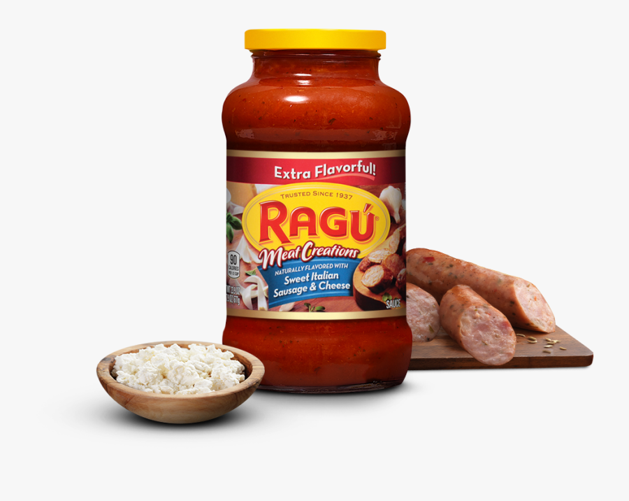 Ragu Italian Sausage And Cheese, Transparent Clipart