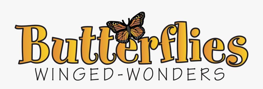 Butterflies Text, Transparent Clipart