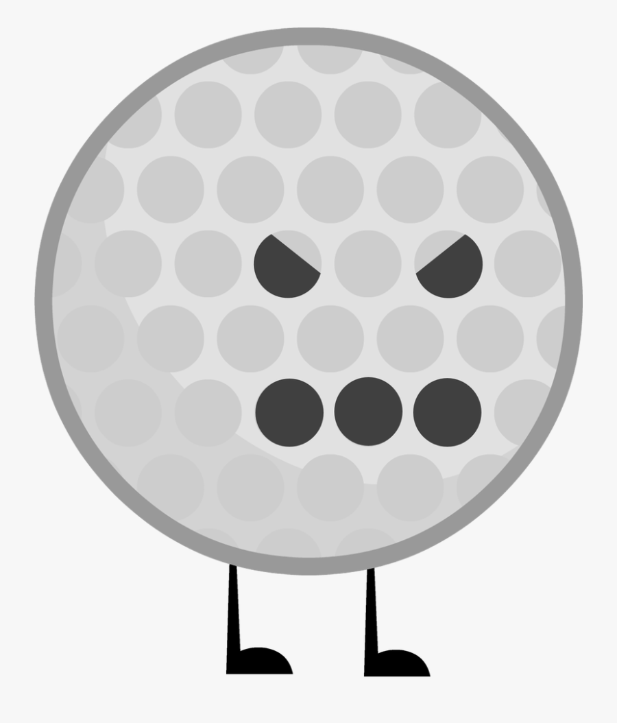Golf Ball Vector Png Clipart , Png Download - Battle For Dream Island Golfball, Transparent Clipart