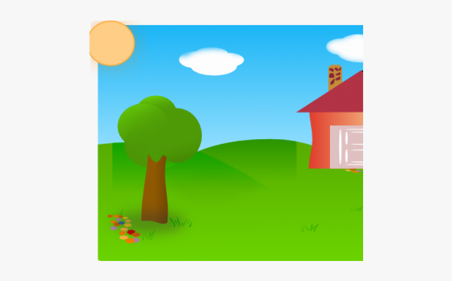 Nature Clipart Backyard Blue Sky Green Grass Clipart Free Transparent Clipart Clipartkey