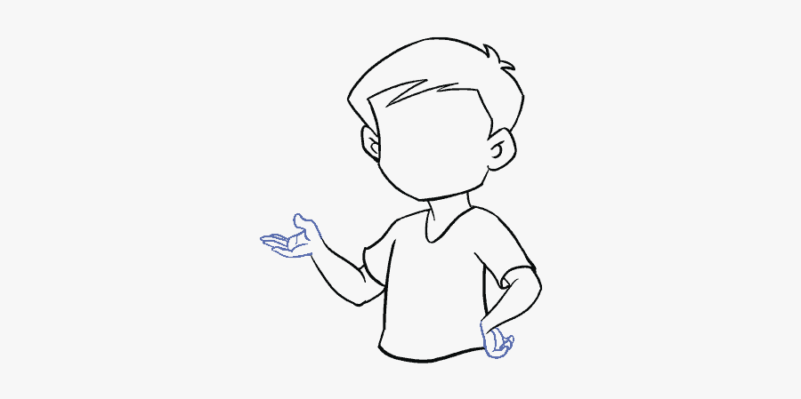 How To Draw A Boy In A Few Easy Steps Easy Drawing - Draw A Boy, Transparent Clipart