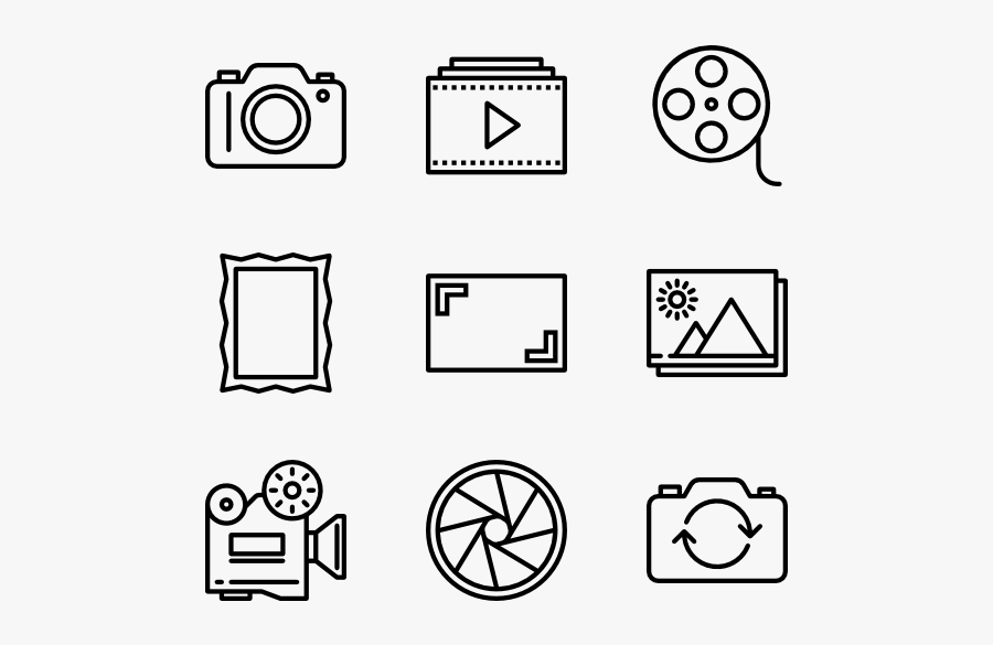 Video Icons Free Vector - Design Icons Vector, Transparent Clipart