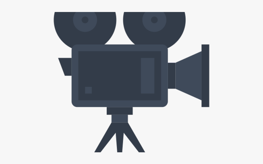 Video Camera Clipart Video Recording - Cinema Icon Png Grey, Transparent Clipart