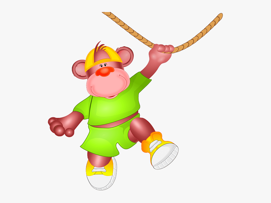 Monkey-151023 - Monkey In Rope Png, Transparent Clipart