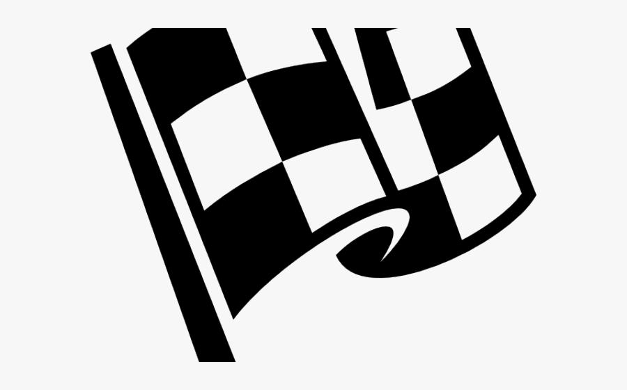 Race Track Clipart Cute - Checkered Flag Clip Art, Transparent Clipart