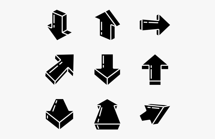 302 Arrow Icon Packs - 3d Direction Arrow Png, Transparent Clipart