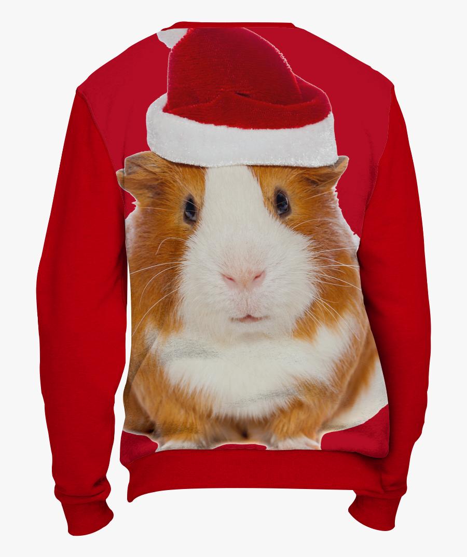 Christmas Guinea Pig Png - Ugly Guinea Pig Christmas Sweater, Transparent Clipart