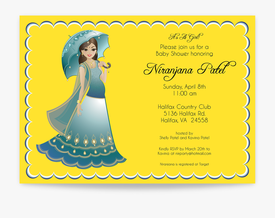 Baby Shower Invitation Card India, Transparent Clipart