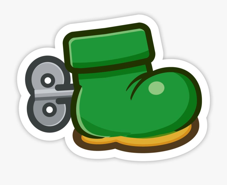 Goomba&#039 - S Shoe - Super Paper Mario Sticker Star Stickers, Transparent Clipart
