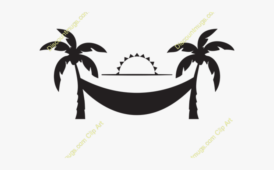 Transparent Hammock Png - Hammock And Palm Trees Clipart, Transparent Clipart